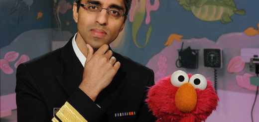 Elmo asks Surgeon General about vaccinations.
