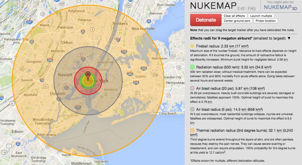 9 megaton nuclear explosion.