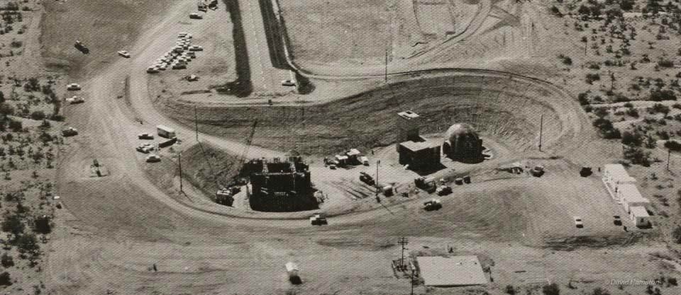The Titan II missile silo in Arizona under construction.