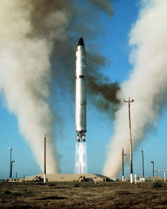 Titan II Missile lauching from silo