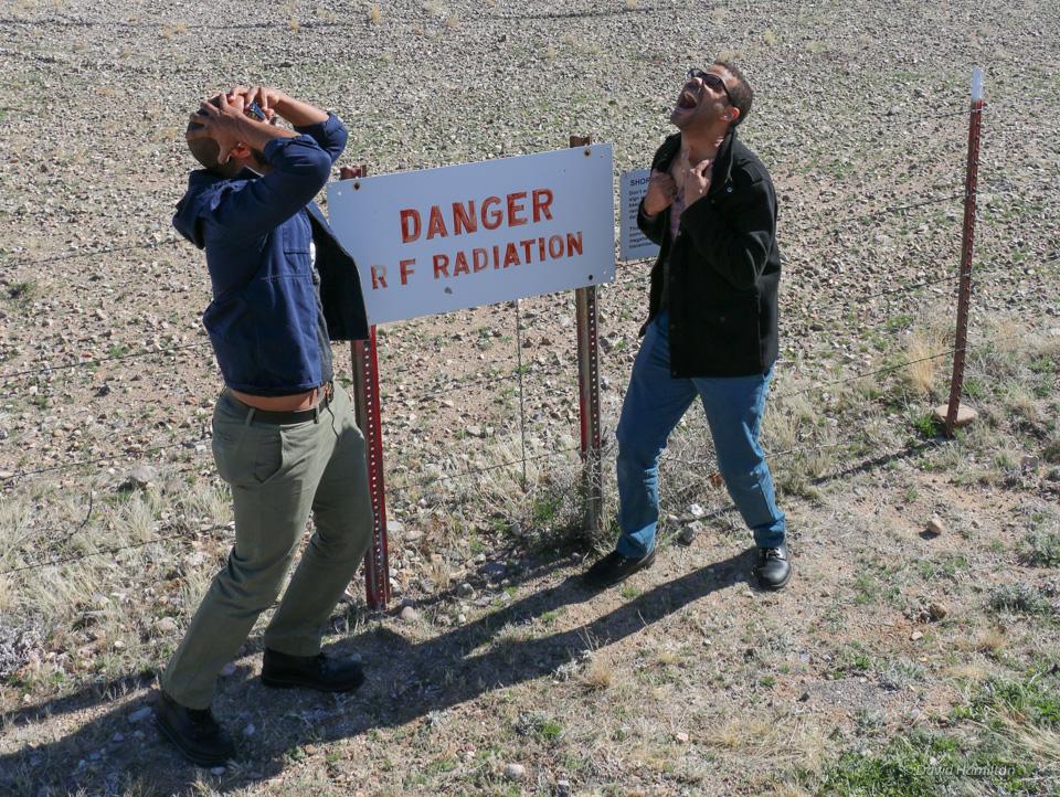 RF radiation warning