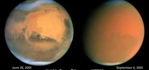 Mars dust storm 2001