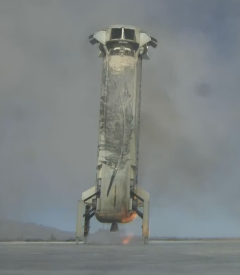 Blue Origin rocket booster lands safely back on earth