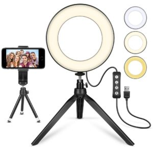6-inch table top ring light