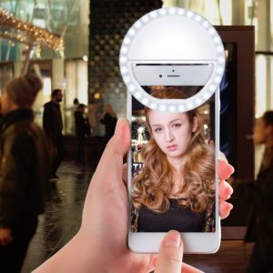 A cellphone ring light for portability.
