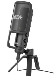 The Rode NT-USB is a step up from the Blue Yeti and sounds great.