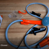 Anglink's rechargeable shower makes bucket showering a lot easier.